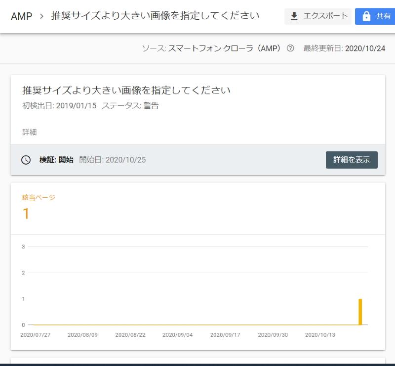 Search Console:AMPの警告(1/2)