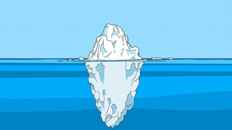 氷山のイメージ
